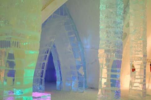 Eishotel von innen