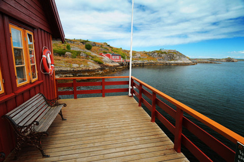 Norwegen Haus am Meer