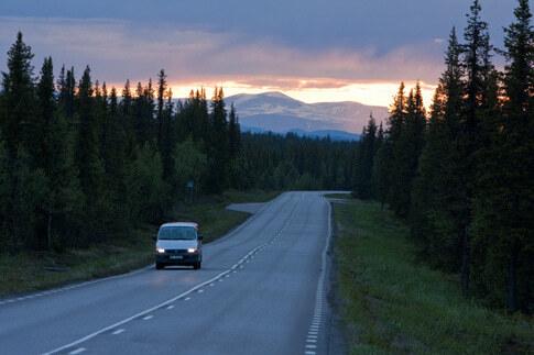 Mit dem Auto durch Lappland