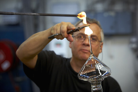 Glasarbeiten in den Glashütten