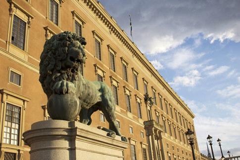 Das königliche Schloss in Stockholm