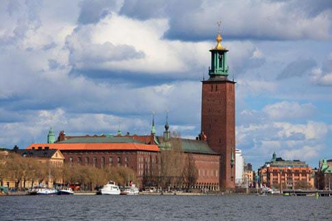 Stockholm mit Stadshuset (Rathaus)