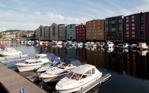 Hafen in Trondheim Norwegen
