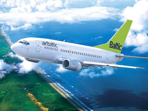 airBaltic Fluggesellschaft für das Baltikum