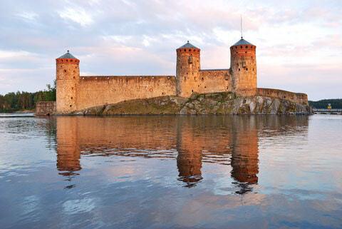 Burg Olavinlinna in Savonlinna, Finnland