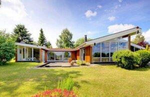 Ein Ferienhaus auf der Insel Seeland in Dänemark