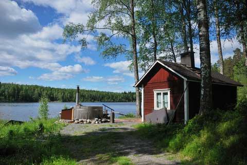 Eine Sauna in Finnland