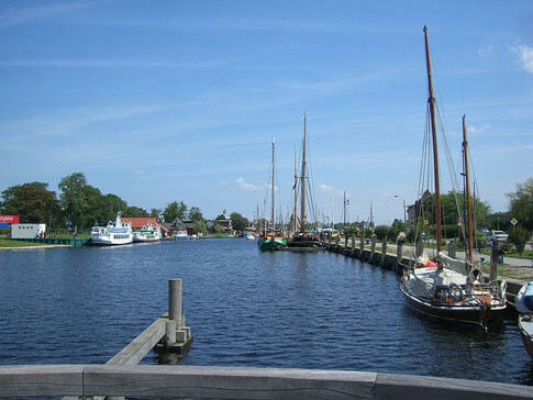 Der Museumshafen in Greifswald an der Ostsee