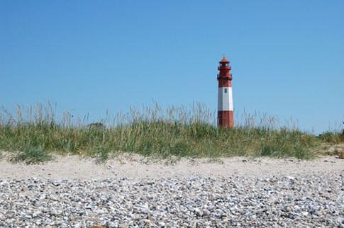 Leuchtturm von Fluegge auf der Insel Fehmarn