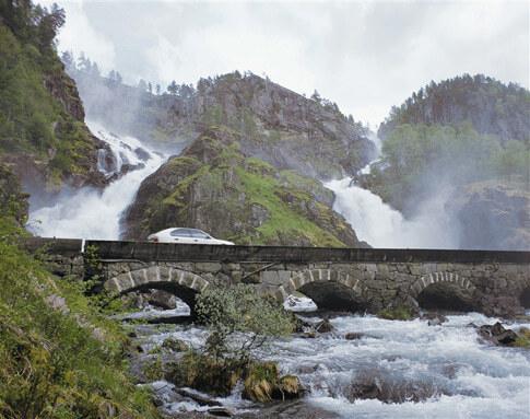 Latefossen Sehenswürdigkeit Norwegen