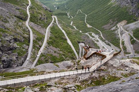 Trollstigen Sehenswürdigkeit Norwegen