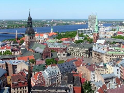 Die alte Stadt Riga in Lettland