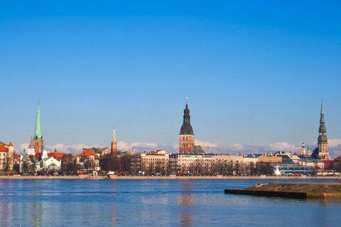 Fluss Düna (Daugava), Lettland