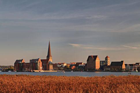 Ansicht von Rostock an der Ostsee