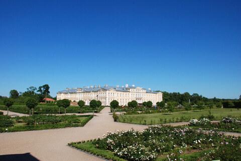 Der Rundale Palast in Lettland