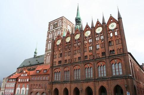 Das alte Rathaus in Stralsund