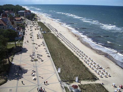 Die Strandpromenade in Kühlungsborn an der Ostsee