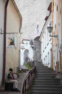 Akkordeonspieler in der Altstadt von Tallinn
