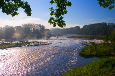 Wasserfall Ventas Rumba in Kuldiga, Lettland.