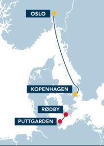 DFDS Seaways Route Kopenhagen Oslo