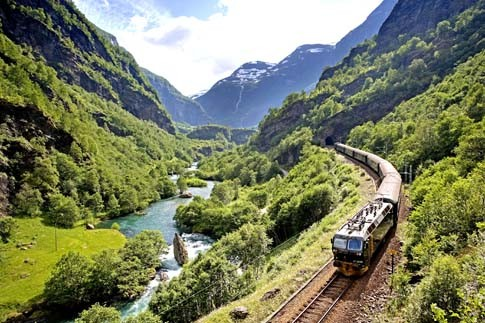 Die Flåmsbahn in Norwegen