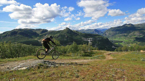 Mountainbike-Paradiese in der Umgebung von Hemsedal