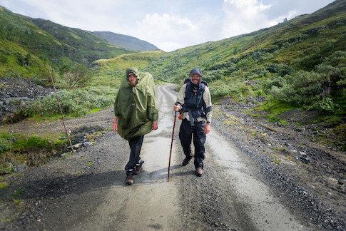 Zwei Pilgerer auf dem Olavsweg