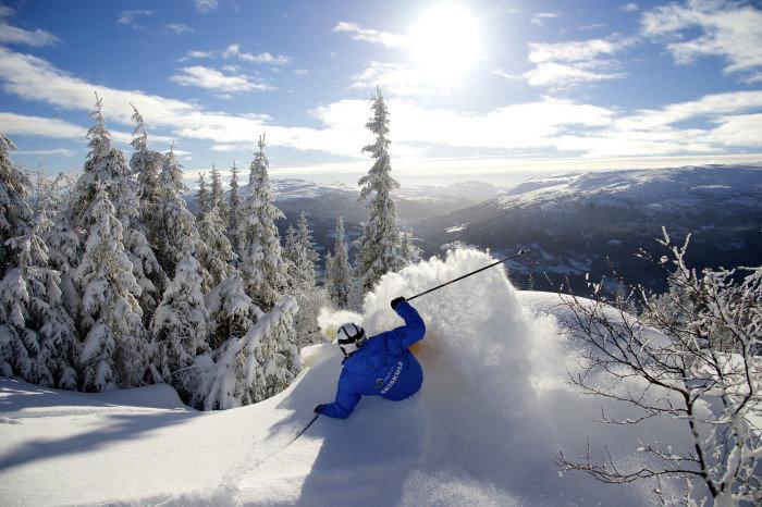 Skifahrer in Norwegen