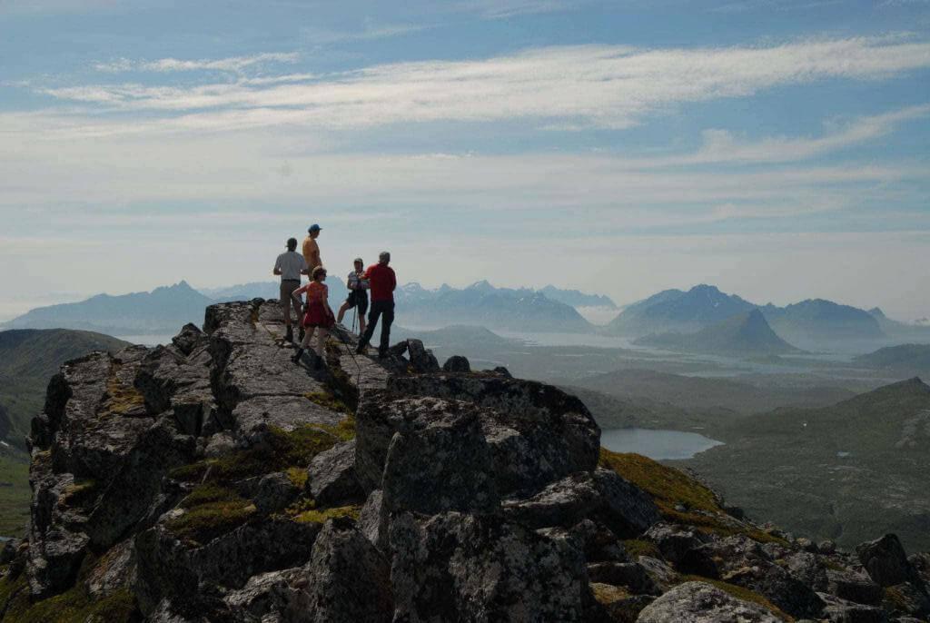 Wanderer auf den Lofoten