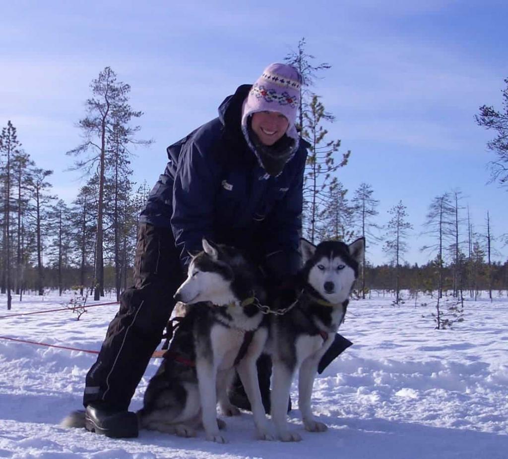 Huskytour durch finnisch Lappland