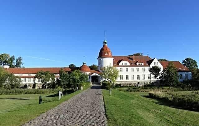 Das Schloss Nordborg aus Als