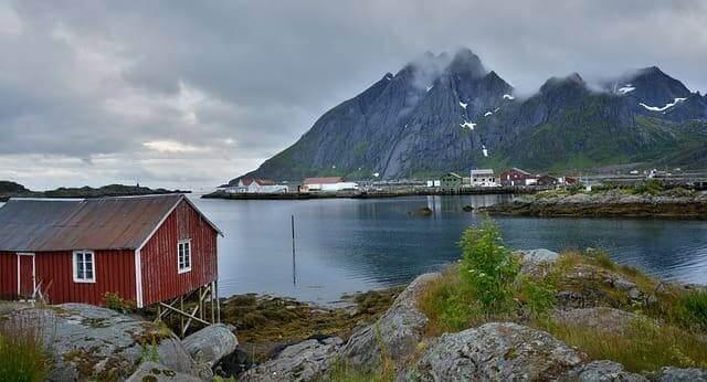 Landschaft der Lofoten Inseln