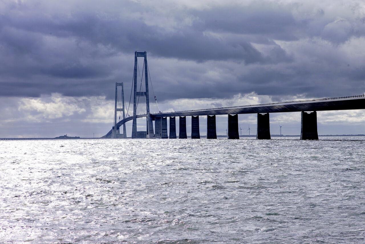 Anreise Dänemark über die Großer Belt Brücke