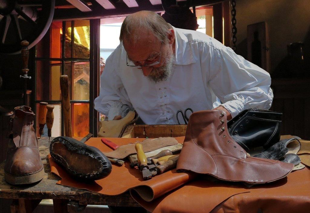 Ein Schuhmacher in Den Gamble By