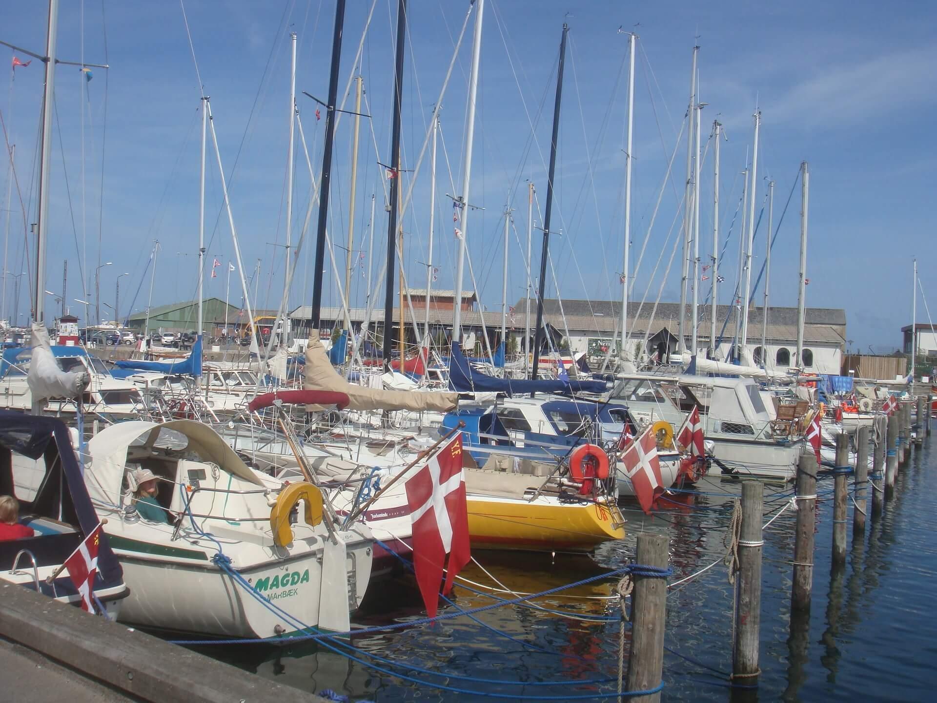 Hundested Hafen in Dänemark