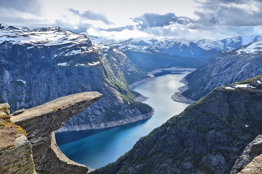 Die Trolltunga in Norwegen