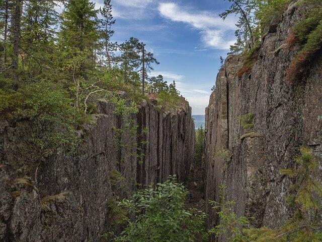 Granitklippen der Höga Kusten